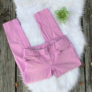 Lilly Pulitzer Pink Worth Skinny Mini Ankle Jeans